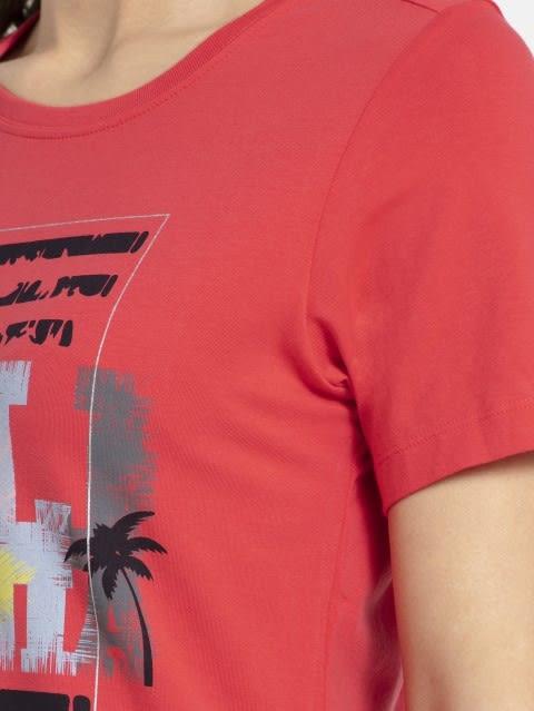 Hibiscus Crew Neck Graphic T-shirt