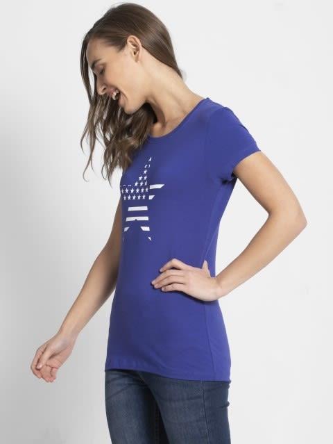 Indigo Crush Crew Neck Graphic T-shirt