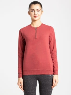 Rust Red Melange Sweatshirt