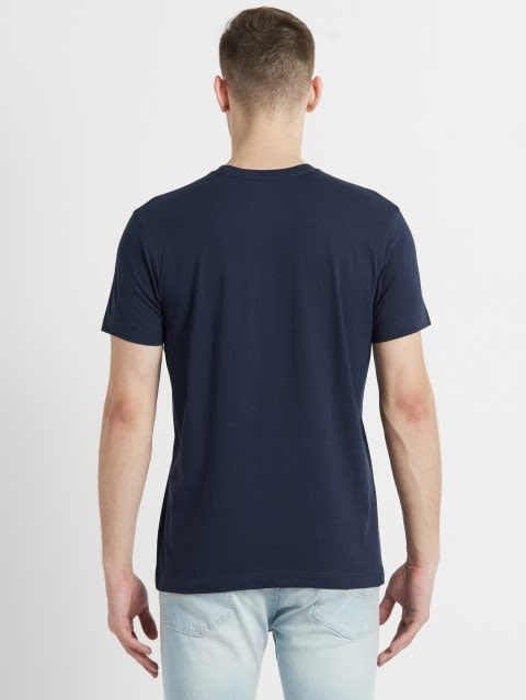 Navy Crew neck Graphic1 T-shirt