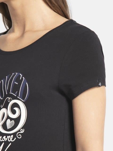 Black Print43 Graphic T-Shirt