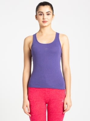 Cyber Grape Melange Racerback Tank Top