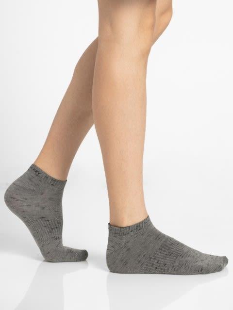 Mid Grey Men Low Show Socks