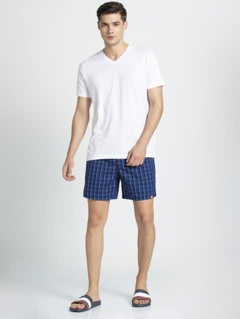 Navy Checks Boxer shorts