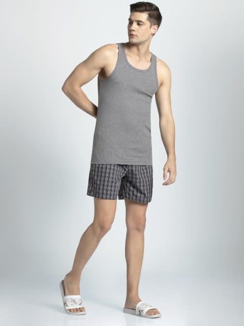 Charcoal Checks Boxer shorts