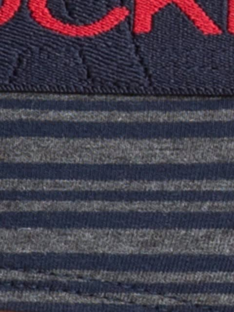 Navy &Grey Stripe33 Yarn dyed Brief