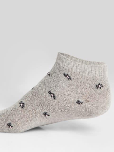 Grey Melange Low Show Socks