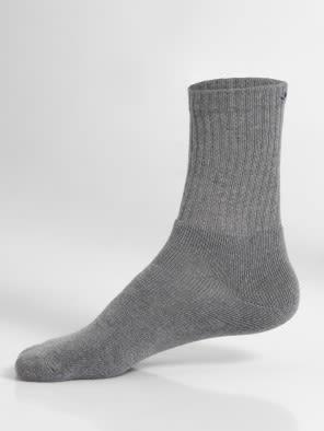 Mid Grey Melange Men Crew Socks