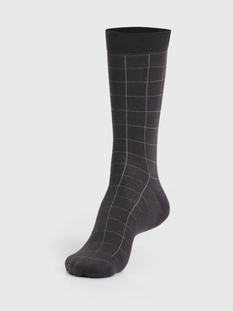 Gunmetal Men Calf Length Socks