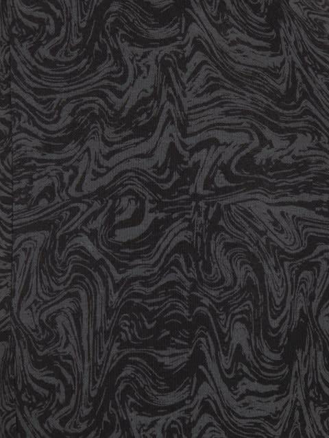 Black Printed Yoga Pant