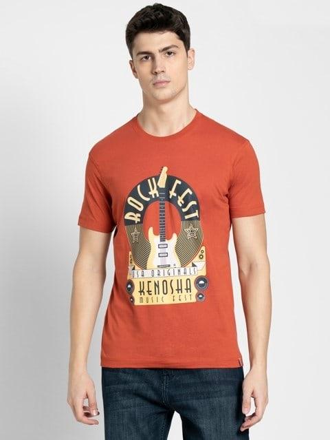 Cinnabar Crew neck Graphic T-shirt