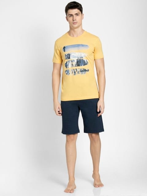 Corn Silk Crew neck Graphic T-shirt