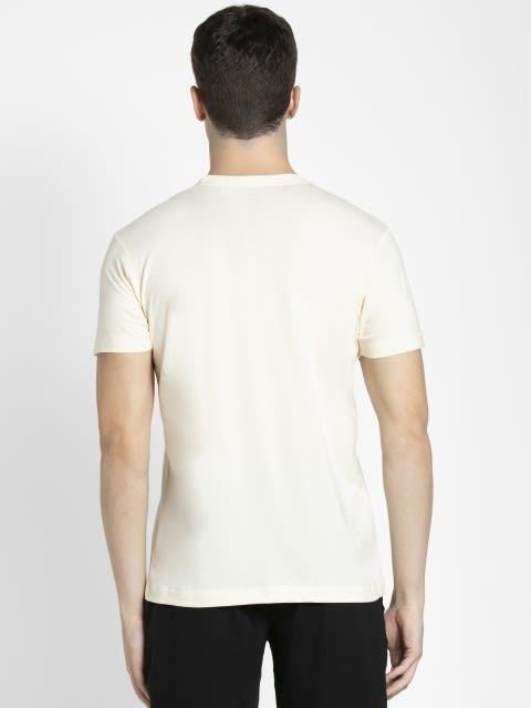 Ecru Crew neck Graphic T-shirt