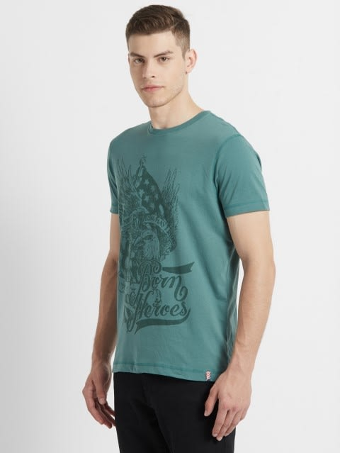 Green Spruce Crew neck Graphic T-shirt