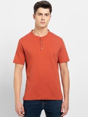 Cinnabar Henley Half Sleeve T-Shirt
