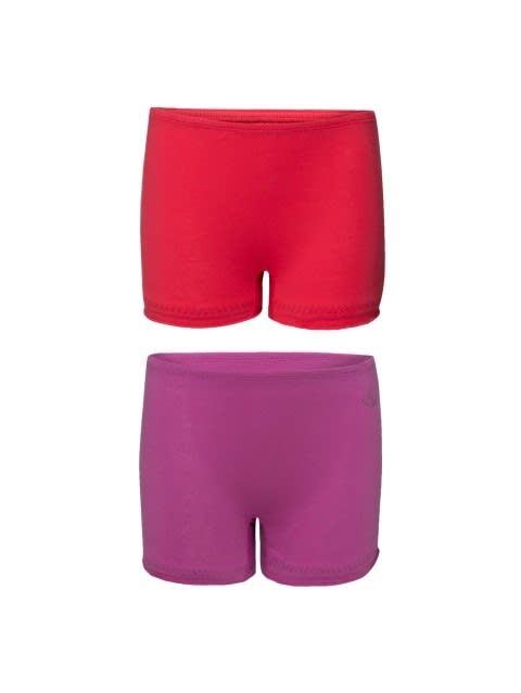 Solid Assorted Girls Bloomers Pack of 2