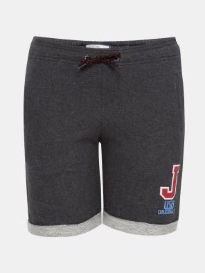 Black Melange Boys Shorts