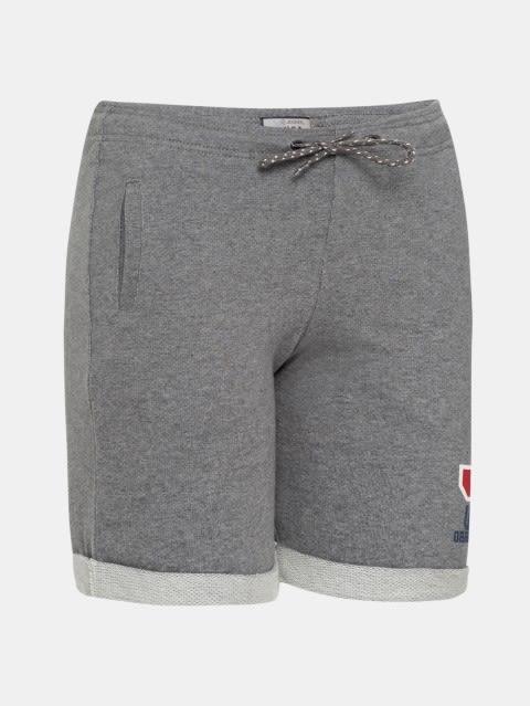 Steel Grey Melange Boys Shorts