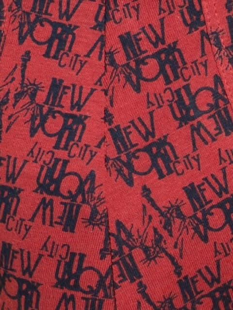Brick Red Print54 Brief