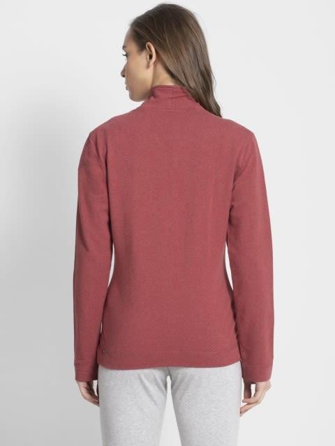 Rust Red Melange Fastening Jacket