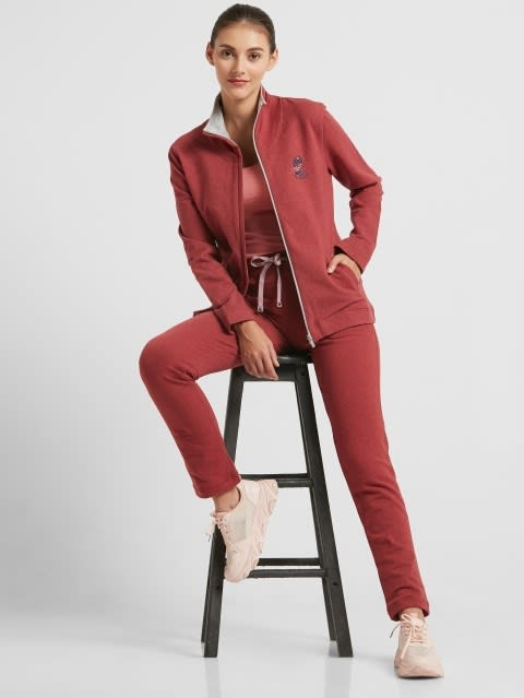 Rust Red Melange Fastening Jacket