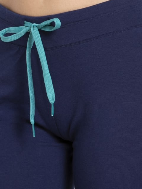 Imperial blue & Biscay bay Knit Capri
