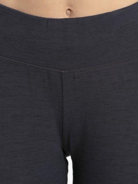 Deep Iron Marl Knit Sports Capri