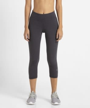 Deep Iron Marl Knit Sports Capri