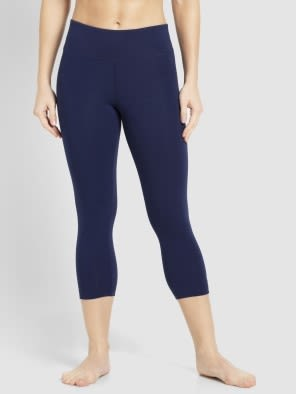 Imperial blue & Biscay bay Knit Sports Capri