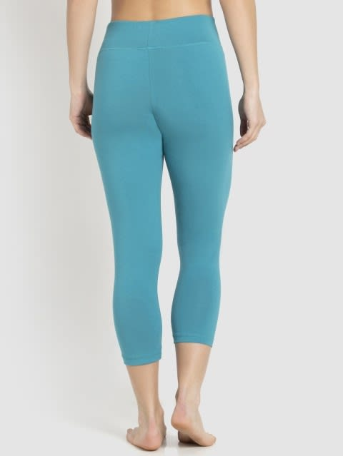 Biscay bay & Black Knit Sports Capri