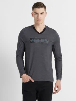 Black & Pewter Long Sleeve T-Shirt