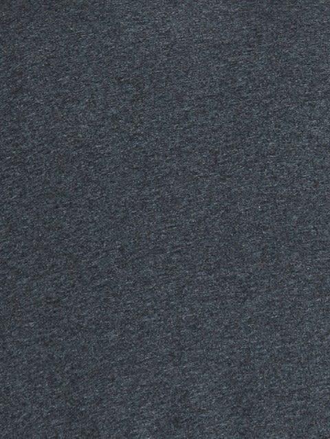 True Black Melange Henley Long Sleeve T-Shirt