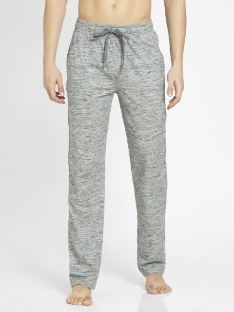Cool Grey Melange Slim Fit Track Pant