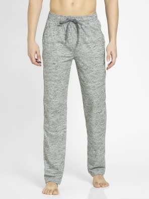 Cool Grey Melange Slim Fit Track Pant