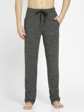 Forest Dark Grey Melange Slim Fit Track Pant