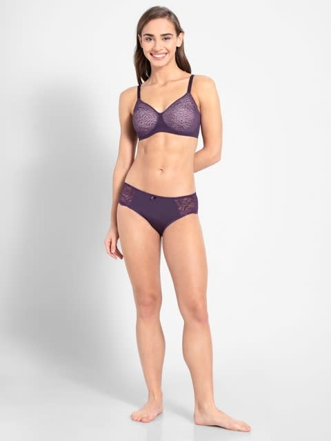 Purple Cosmos Soft Cup Spacer Bra