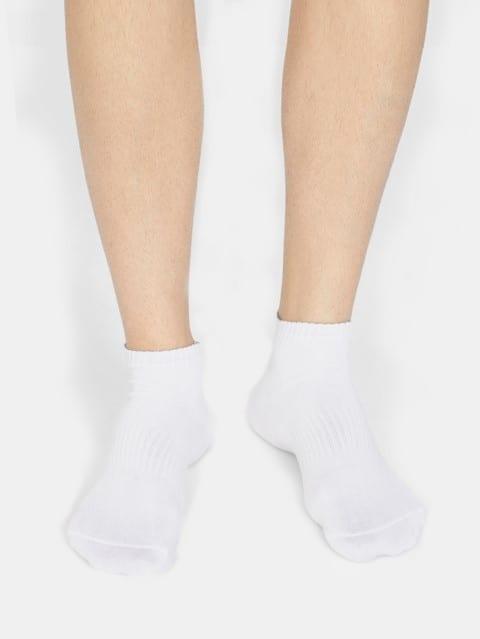 White Mens Low Show Socks