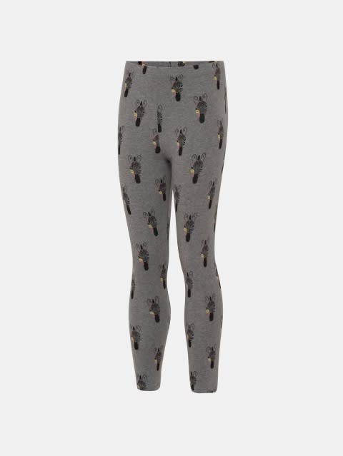 Mid Grey Melange Girls Leggings