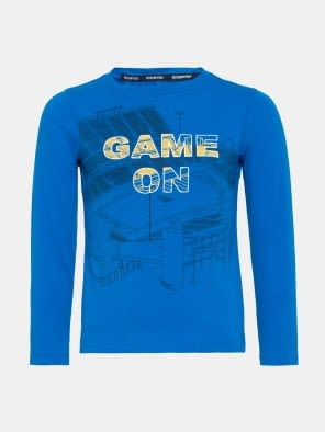 Neon Blue Boys Long Sleeve T-Shirt