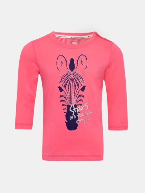 Camellia Rose Spot Print Girls T-Shirt