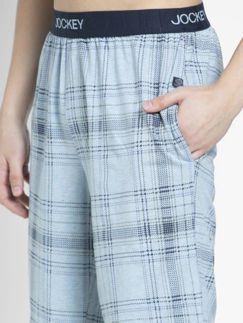 Light Blue Print1 Regular Fit Shorts