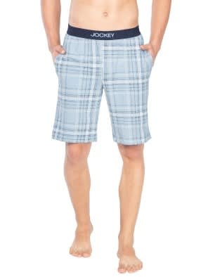 Light Blue Print1 Regular Fit Shorts