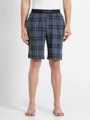 Mid Blue Print2 Regular Fit Shorts