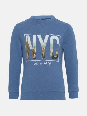 Light Denim Melange Boys Sweatshirt