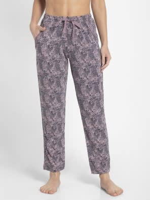 Old Rose Assorted Prints Knit Lounge Pants