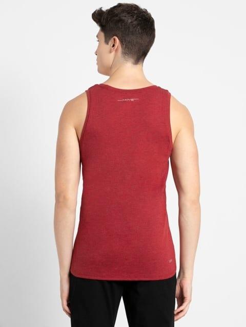 Bric Red Melange Tank Top