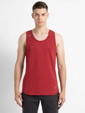 Bric Red Melange Tank Top