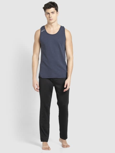 Navy Melange Tank Top