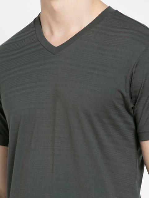 Deep Olive V-Neck T-Shirt