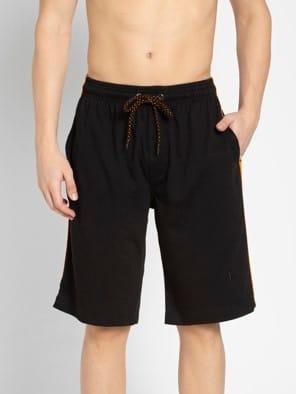 Black & Golden Poppy Knit Sport Shorts